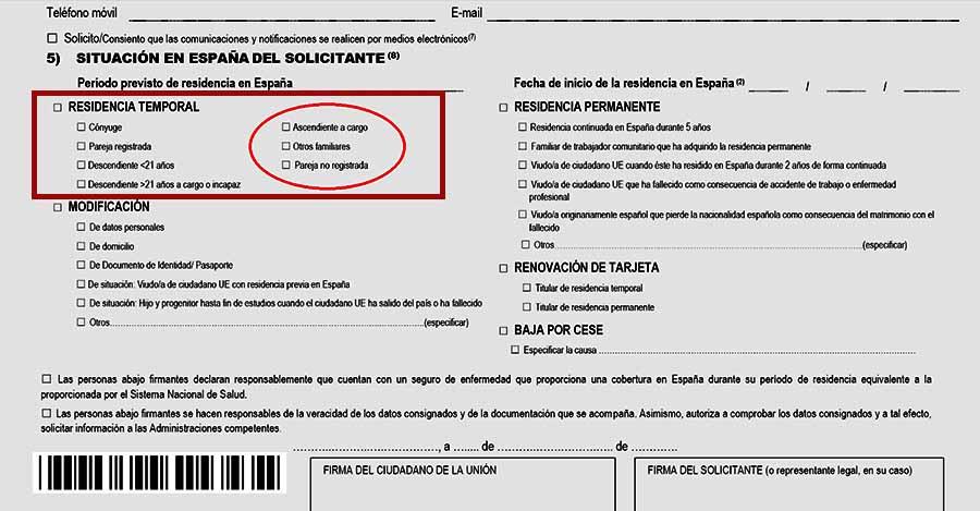 Formulario EX 19