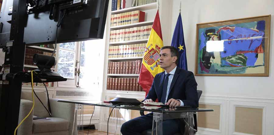 videoconferencia presidente pedro sanchez gobierno espana